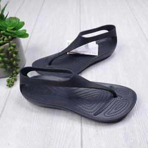 Crocs Serena Iconic Comfort Flip Sandals 7, 8 NWT